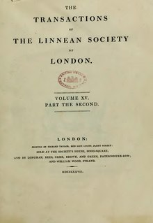 Transactions of the Linnean Society of London, Volume 15.djvu