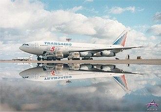 Transaero - A Transaero Ilyushin Il-86
