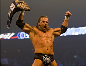 Triple H at a live event on Friday Night Smack...