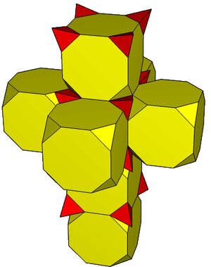 Net (polyhedron) - Image: Truncated tesseract net