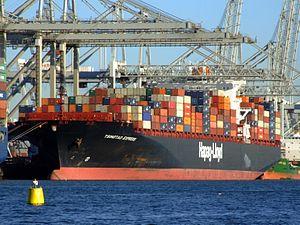 TsingTao Express IMO 9320702, Port of Rotterdam, Holland, 06JAN2009 pic1.JPG