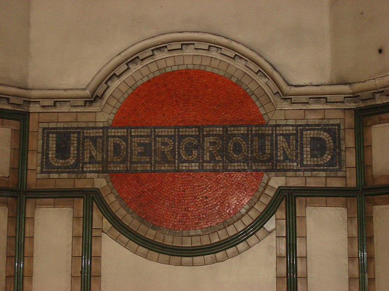 Tube Mosaic at Maida Vale