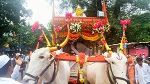 Pandharpur Wari - Tukaram Maharaj palkhi (palanquin) Rath