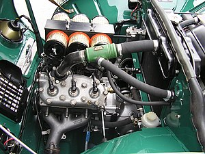 Straight-three engine - A tuned version of a Saab inline-three-cylinder two-stroke engine