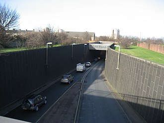 North Tyneside - Tyne Tunnel Southern Entrance