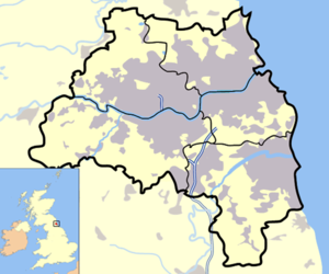 Tyne and Wear outline map with UK.png