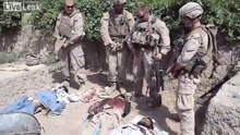 File:U.S. Marines urinating on dead Taliban members in Helmand Province, Afghanistan (July 2011).ogv