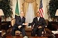U.S. President Bush and Tanzanian Presdent Jakaya Kikwete.jpg