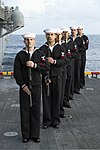 U.S. Sailors prepare to fire a volley during a burial at sea March 19, 2013, aboard the amphibious assault ship USS Kearsarge (LHD 3) in the Atlantic Ocean 130319-N-NK134-177.jpg