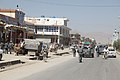 U.S. Soldiers with Charlie Company, 3rd Battalion, 187th Infantry Regiment, 101st Airborne Division, along with Afghan National Police officers, patrol the Sharana bazaar in western Paktika province 100821-A-OD503-018.jpg