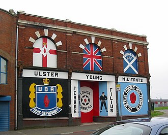 Unionism in Ireland - Ulster Defence Association mural in Shankill, Belfast