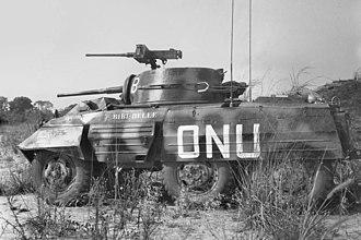 M8 Greyhound - ONUC M8 during the Congo Crisis.
