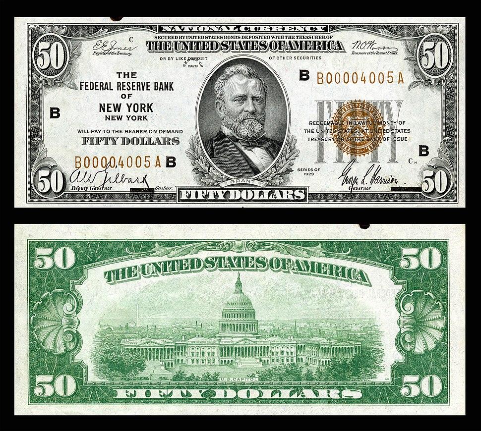 US-$50-FRBN-1929-Fr.1880-B