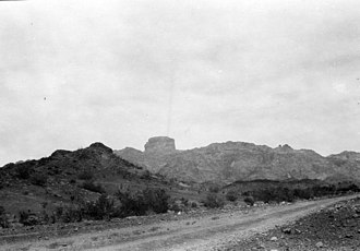 Castle Dome (butte) - Castle Dome viewed from Castle Dome, Arizona, October 11, 1926.
