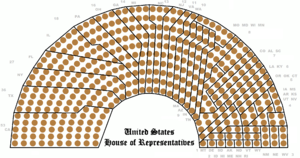 Federal government of the United States - The 435 seats of the House grouped by state