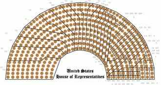 The 435 seats of the House grouped by state USHouseStructure2012-2022 SeatsByState.png