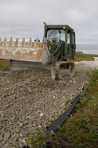 Newtok, Alaska - Road construction as part of relocation efforts