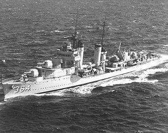Mahan-class destroyer - Image: USS Mahan DD364