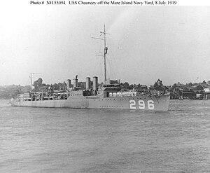 USS Chauncey (Destroyer - 296)