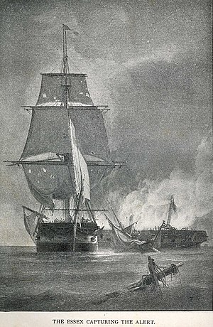 USS Essex (1799) - Essex capturing Alert.