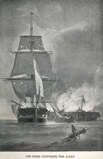 USS Essex vs HMS Alert - USS Essex captures the crippled HMS Alert