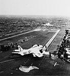 USS Forrestal (CVA-59) launches FJ-3s of VF-21 in Feburary 1956.jpg