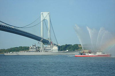 USS Hue City (CG 66) passes under the Verrazano Narrows Bridge.jpg