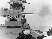 USS Lexington (CV-2) firing 203mm guns 1928