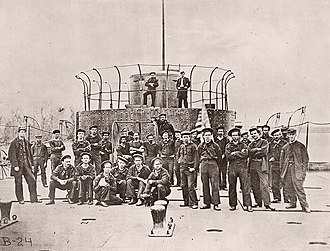 Crewmen of USS Lehigh in 1864 or 1865. USS Monitor crew2.jpg