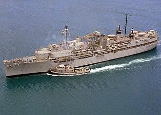 USS Proteus (AS-19) - Image: USS Proteus AS 19 1980
