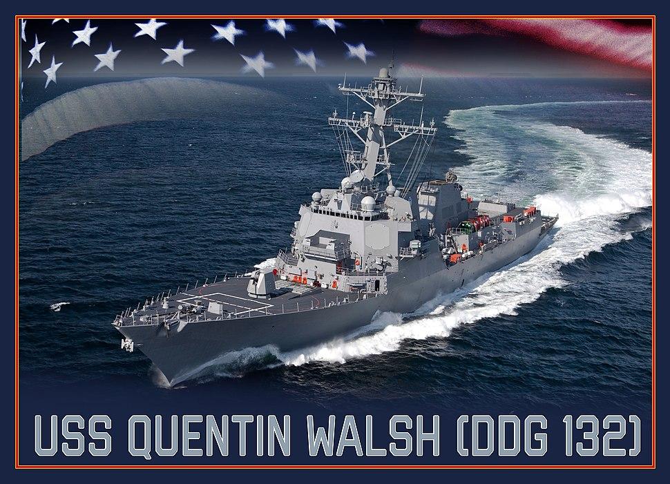 USS Quentin Walsh (DDG-132) artist depiction