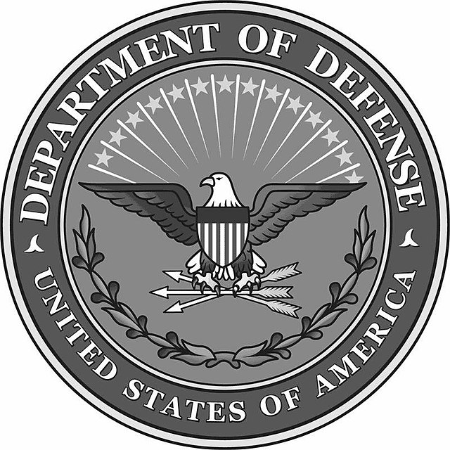 From commons.wikimedia.org: US Department of Defense logo grayscale {MID-71567}