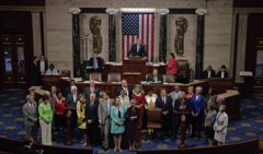 US House Democrats assume floor and begin 22 June 2016 sit in.png