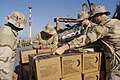 US Navy 030115-N-9693M-514 U.S. Marines stand prepare Meal's Ready to Eat (MRE) for shipment as fellow Marines and Seabees board Military Sealift Command (MSC) ships in Sicily as part of a deployment in support of Operati.jpg