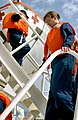 US Navy 030319-N-6077T-002 Crewmembers participate in an abandon ship exercise aboard the MIlitary Sealift Command hospital ship USNS Comfort.jpg