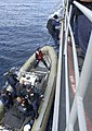 US Navy 030617-N-9251B-114 Crewmembers assigned to the Spruance-class destroyer USS O'Bannon (DD 987) Visit, Board, Search, and Seizure team (VBSS), depart the ship to conduct a Maritime Interdiction Operation (MIO) exercise.jpg