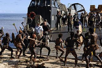 Solomon Islands dance - A tribal dance at Sasamungga, Choiseul Island.