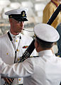 US Navy 071207-N-3393B-244 Musician Chief Sterling Sterickler of the Pacific Fleet Band plays the bassoon during a joint U.S. Navy-National Park Service ceremony commemorating the 66th Anniversary of the attack on Pearl Harbor.jpg