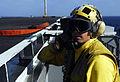 US Navy 081010-N-9928E-098 Aviation Boatswain's Mate (Handling) 3rd Class Howard Mozer uses sound powered phones.jpg