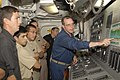 US Navy 090605-N-0924R-010 Chief Hull Technician Scott Whitman gives liaison naval officers from Uruguay.jpg