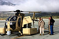 US Navy 090616-M-9917S-091 The Unmanned Little Bird (ULB) helicopter, a smaller variant of the larger, manned A-MH-6M can be controlled by a pilot or piloted remotely.jpg