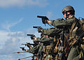 US Navy 100914-N-2218S-030 Marines assigned to the 31st Marine Expeditionary Unit (31st MEU) participate in a live-fire exercise aboard the amphibi.jpg