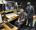 US Navy 101015-N-7764M-010 Mass Communication Specialist 2nd Class Jacques Renard interviews Master Chief Petty Officer of the Navy (MCPON) Rick D.jpg