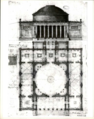 Udkast til Thorvaldsens museum med anvendelse af Marmorkirkens fundamente (G. F. Hetsch).png