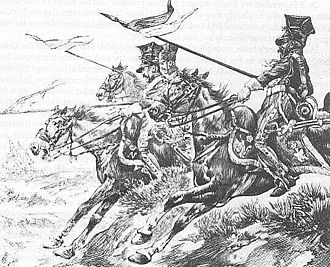 Battle of Los Yébenes - Polish Vistula Lancers in charge