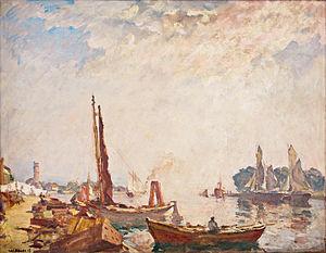 Ulrich Hübner - Hafen von Travemünde.jpg