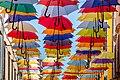 Umbrellas in Novigrad, Istria County, Croatia 02.jpg