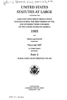 United States Statutes at Large Volume 107 Part 2.djvu