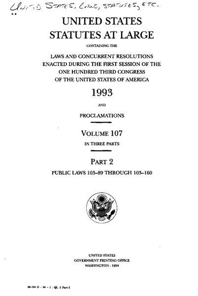 File:United States Statutes at Large Volume 107 Part 2.djvu