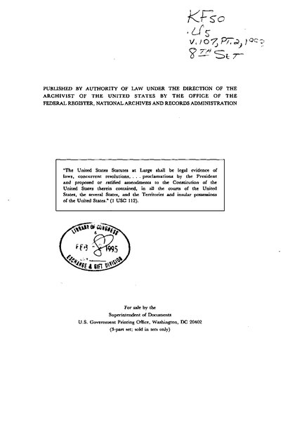 File:United States Statutes at Large Volume 107 Part 2.djvu